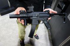 SIG SAUER MPX KeyMod Multi Cal Machine Pistol/Mini Submachine Gun (SMG)/PDW (Personal Defense Weapon) with Silencer/Sound Suppressor at NDIA SOFIC 2014 (Photos!)