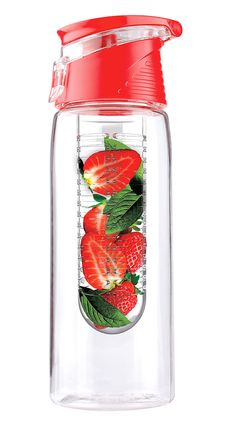 Fruit infusing water bottle!! This is perfect for anyone looking to start using Detox waters! I will definitely be looking for one of these online or in stores!