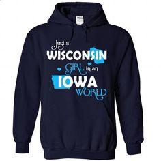 A WISCONSIN-IOWA girl Blue03 - #hoodie drawing #sweatshirt girl. PURCHASE NOW => https://www.sunfrog.com/States/A-WISCONSIN-2DIOWA-girl-Blue03-NavyBlue-Hoodie.html?68278