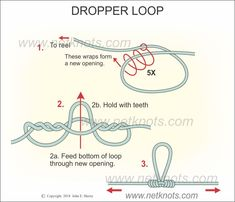 Dropper Loop - How to tie a Dropper Loop | Fishing Knots Fishing Rigs, Surf Fishing, Snell Knot, Fishing Line Knots, Palomar Knot, Diy Projects That Sell Well, Clinch Knot, Crappie Jigs, Strong Knots