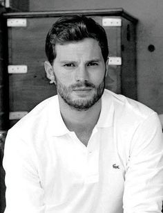 Jamie Dornan looks so sexy here. I absolutely love pictures of him in black and white!! 50 Shades of Christian and Ana