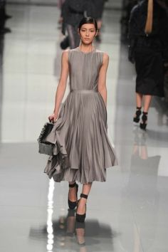 Christian Dior - Fall 2012 this dress has movement, a beautiful hue and is absolute understated elegance allowing it to not lock into just one wear.