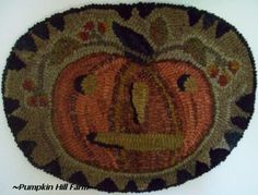 Love hooked rugs! Cute one for Fall