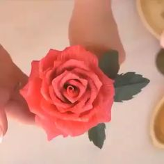 Best 12 Outstanding diy flowers tips are available on our site. Have a look and you wont be sorry you did. Crepe Paper Roses, Paper Flowers Craft, Tissue Paper Flowers, Paper Crafts Origami, Flower Crafts, Diy Flowers, Diy Flower Fabric, Flowers With Paper, How To Make Flowers Out Of Paper