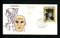 Postal History FDC C57 Comoro Islands 1973 Pablo Picasso Art Painter | eBay