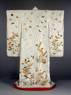 Japanese Kimono with Butterfly Design, ca. 1830-1880.