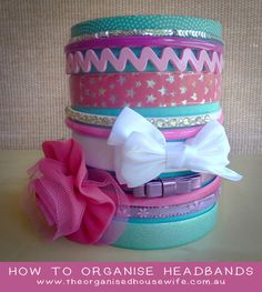 How to organise your headbands : The Organised Housewife : Ideas for organising and Cleaning your home