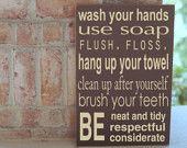 For the boy's bathroom