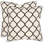 Eliza Embroidered Geometric Pillow (2-Pack), Black