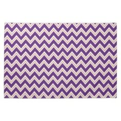 Purple and Orange Chevron Stripes Zip Zag Pattern Towel #kitchentowels #kitchen #towels #gifts #zazzle #prettypatterngifts www.PrettyPatternGifts.com