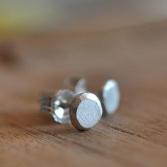 5mm simple studs. Recycled sterling silver. by oblissjewellery, $30.00