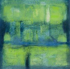 JanKinslowe_01 (abstracts) / GRASSPLOT/ oil wax on 12 x 12 panel