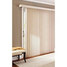 $42 Better Homes and Gardens Vertical Textured S-Slat Privacy Blinds