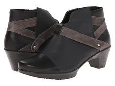 Naot Footwear Modern Onyx Leather/Caviar Leather/Gray Shimmer Leather - Zappos.com Free Shipping BOTH Ways