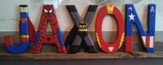 Handpainted+5.5+tall+wood+letters+by+TheHandpaintedHero+on+Etsy,+$7.00