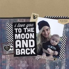 To the Moon and Back - Scrapbook.com - Made with the January Scrapbook.com kit club kit Winter Wishes.
