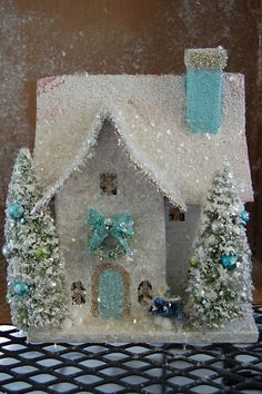 Candy Colored Christmas     via   I adore putz houses for Christmas.     via   I have quit a few both old and new.     via   They used to b...