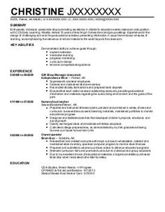 sample nanny resume tips for writing resumes free example format
