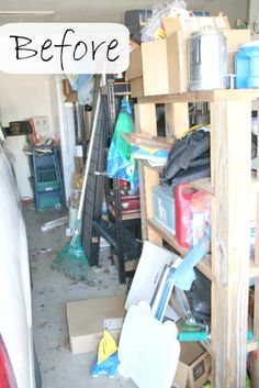 How to Declutter: Decluttering and organizing the garage!