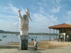 Alvor - Portugal.  Had my picture taken with the giant fisherman.