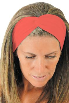 ice cream KNOTTED Twist Arancio Orange Yoga Headband ** Click image to review more details. (Amazon affiliate link)