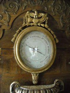 19th c. French Gilt Barometer.  I covet this.