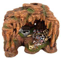 Top Fin Treasure Cave Bubbler Aquarium Ornament | Ornaments | PetSmart