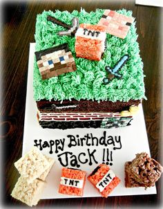 Minecraft Cake and Treats