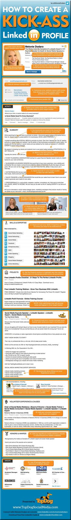 How to create a kick-ass Lindekin profile, by topdogsocialmedia.com