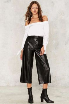 Nasty Gal Slick Your Wounds Culotte Pants