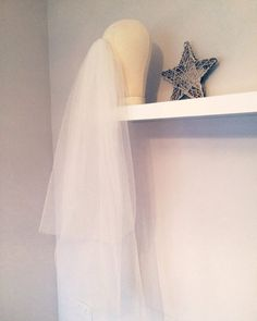 Fingertip Veil Two Tier Ivory Tulle by AvaGraceBridal on Etsy