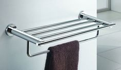 Sanliv Towel Rack with Towel Bar 8222 for hotel bathrooms.