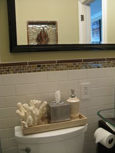 Open Shelves In Thel Luxurious Small Bathroom Decorating Ideas