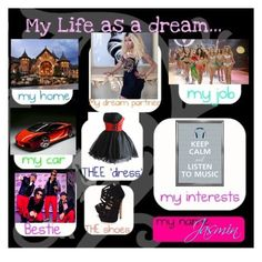 """""""My Life As A Dream"""" by repressed-yeemo-anons ❤ liked on Polyvore featuring FairOnly, Jessica Simpson, Porsche and Victoria's Secret"""
