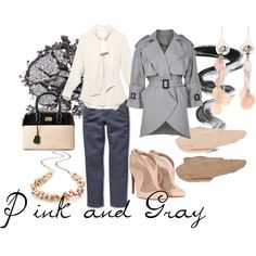 pink/gray, created by susan-jacobs