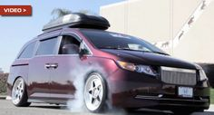 FWD Honda Odyssey Minivan: Check; 1,000+ HP: Check; Burnout: Well, Duh! - Carscoops