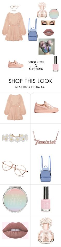 """""""Sneakers and dresses"""" by reveeza ❤ liked on Polyvore featuring LoveShackFancy, Giuseppe Zanotti, Humble Chic, me you, STELLA McCARTNEY, Topshop and Vince Camuto"""