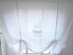 ShabbY Raffrollo *SALLE DE BAIN* French Gardine von The White Suite auf DaWanda.com