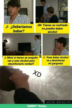 (jungkook y tu) Bts Taehyung, Bts Jungkook, Boy Quotes, Funny Quotes, Vkook Memes, Blackpink Memes, Shared Folder, Spanish Memes, Bts Chibi