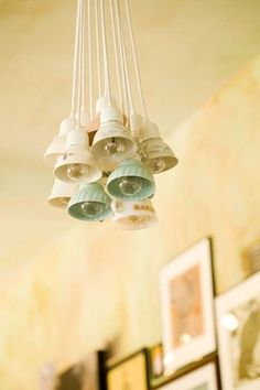Check it out ! Tea cups as lighting! Now that is thinking outside the lighting box.Luuurve it.