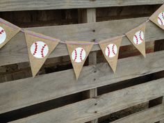 Baseball Decor/ Baseball Banner/ Burlap by NurturedSoulDesigns, $24.50