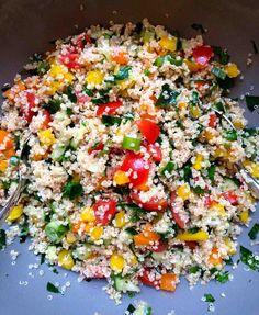 Taboulé mit Quinoa (vegan, gesund & glutenfrei) // Taboulé with quinoa (vegan, healthy & gluten-free)