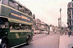 Ireland Pictures, Dublin City, Vintage Photographs, Old Photos, Irish, 1950s, Bridge, Busses, Explore