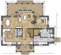 House Floor Plans, Layout, Flooring, How To Plan, Building, Saunas, Home Decor, Sims 4, Finland
