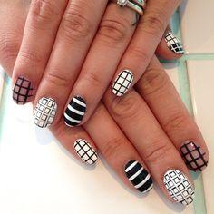 Fun nails for Mae ✖️➕➖▫️▪️▫️