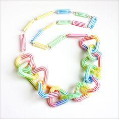 Crafty Challenge 3: Drinking Straw Necklace