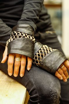 Leather gloves by socapeleatherworks On Etsy Leather Accessories, Leather Cover, Suede Leather, Rings For Men, My Etsy Shop, Cape Town, Fingerless Gloves, Style, Mittens