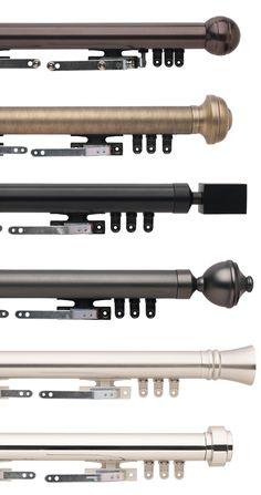 Traverse rod options