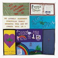 Aids quilt for aids scientist and victim, Finvola Drury