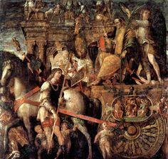 Julius Caesar on a triumphal car, 1490-1506 - Andrea Mantegna